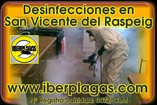 Desinfecciones en San Vicente del Raspeig