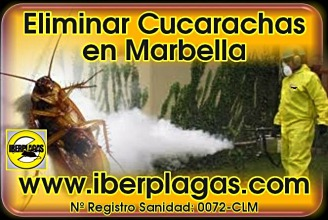 Eliminar cucarachas en Marbella