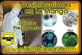 Presupuesto de desinfección en La Manga del Mar Menor