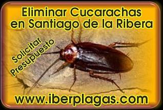 Eliminar cucarachas en Santiago de la Ribera
