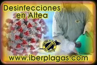 Desinfecciones en Altea